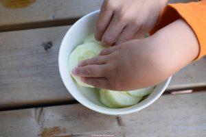 Gezond, tussendoortje, kinderen, komkommer, moestuin, suikervrij, verantwoord