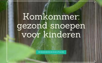 Komkommer gezond snoepen voor kinderen